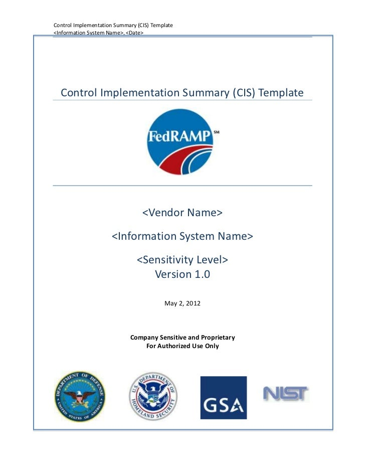 Control Implementation Summary (CIS) Template<Information System Name>, <Date>  Control Implementation Summary (CIS) Templ...