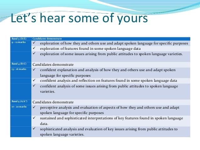 Aqa gcse english spoken language essay