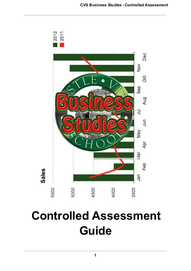 CVS Business Studies ­ Controlled AssessmentControlled Assessment         Guide              1
