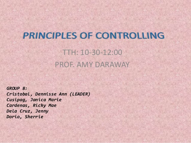 Controlling (Principles of Management)