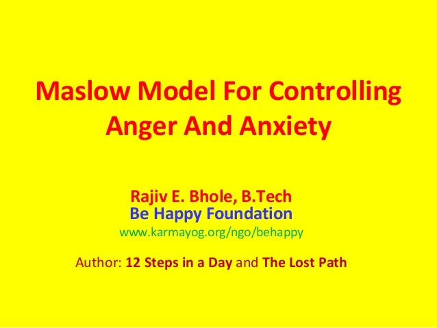 controlling anger Anger is a negative experience so closely bound to pain and depression that it can sometimes be hard to know where one of these experiences ends and the others begin.