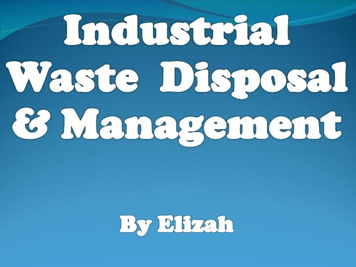 Controlling Industrial Waste Disposal