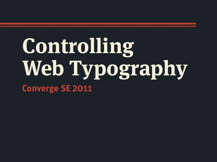 Controlling Web Typography