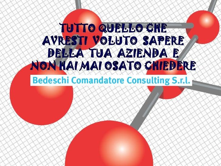Chisiamo        Siamo una piccola società di consu-        lenza che, per alcuni settori, opera        con dei collaborato...