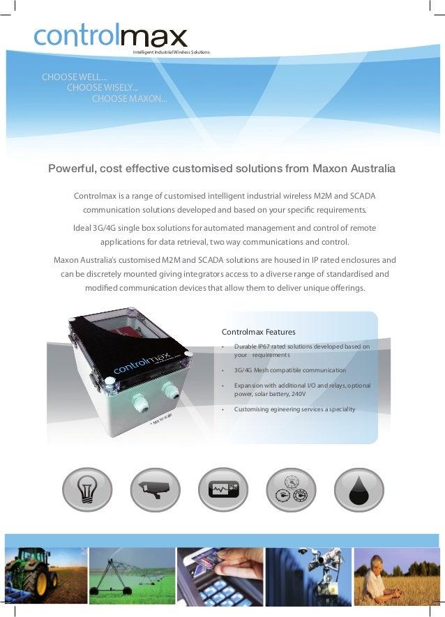 Controlmax Intelligent Industrial Solution - Maxon Australia