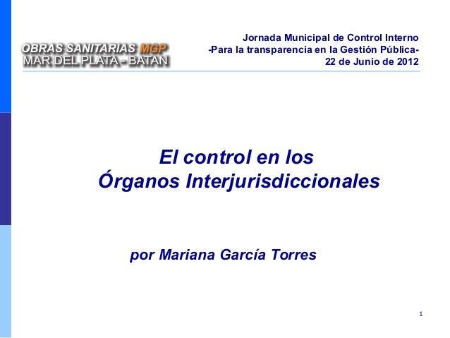 Jornada Municipal de Control Interno             -Para la transparencia en la Gestión Pública-                            ...