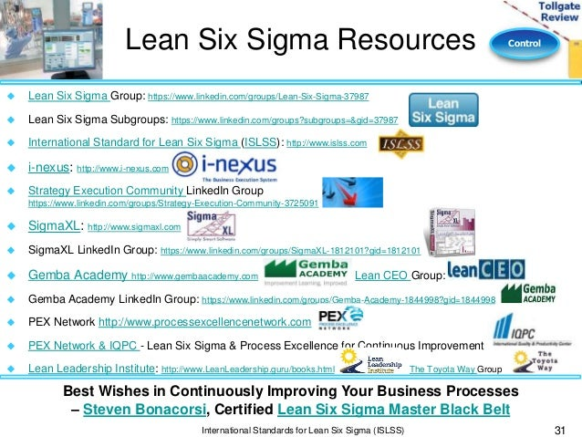 six sigma black belt project template - control phase lean six sigma tollgate template