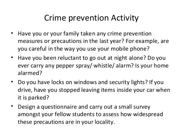 essay about crime prevention Topic: crime prevention subject: criminology select a crime prevention program that addresses law enforcement, the courts, or corrections for the purposes of this.