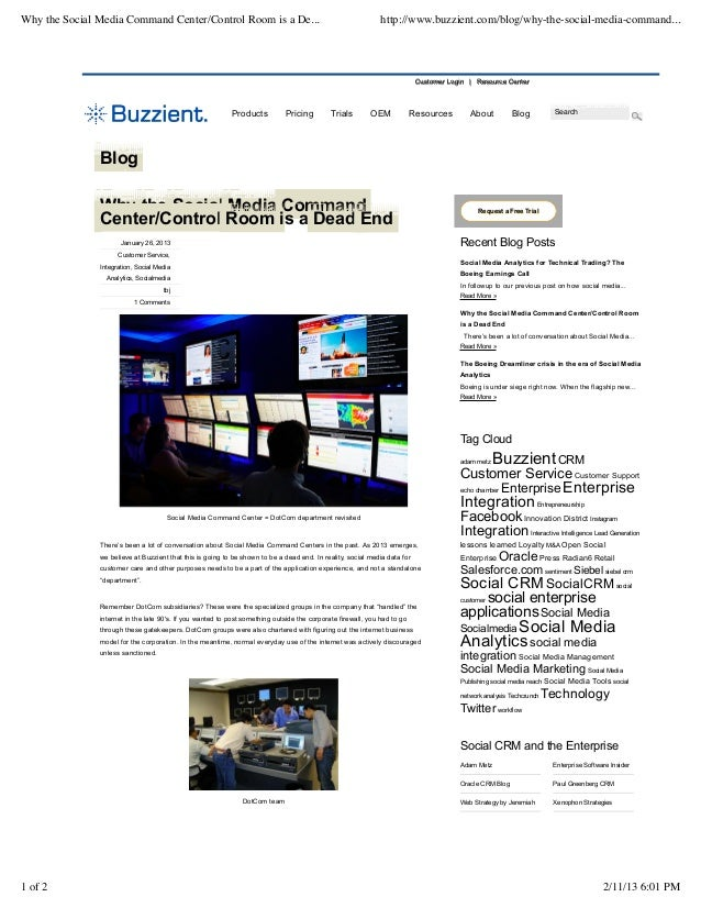 Why the Social Media Command Center/Control Room is a De...                                                   http://www.b...