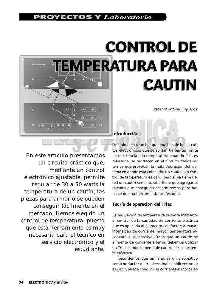 CONTROL DE                    TEMPERATURA PARA                              CAUTIN                                        ...
