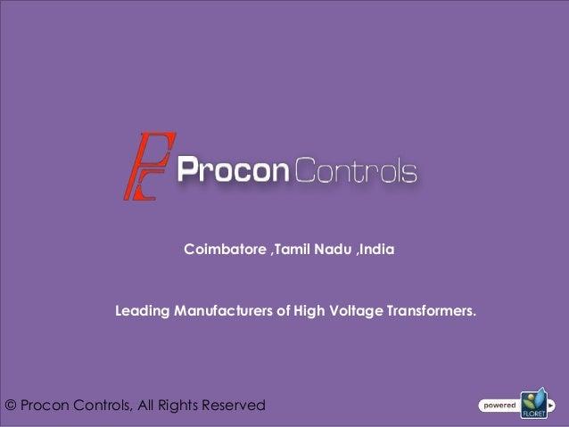 Control Transformer Manufacturers In India