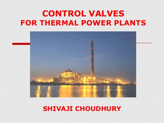 Control valves for thermal power plants