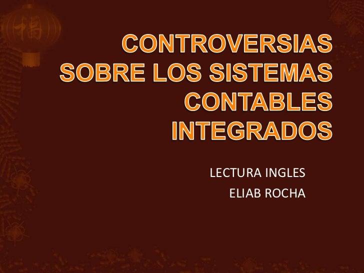 LECTURA INGLES   ELIAB ROCHA