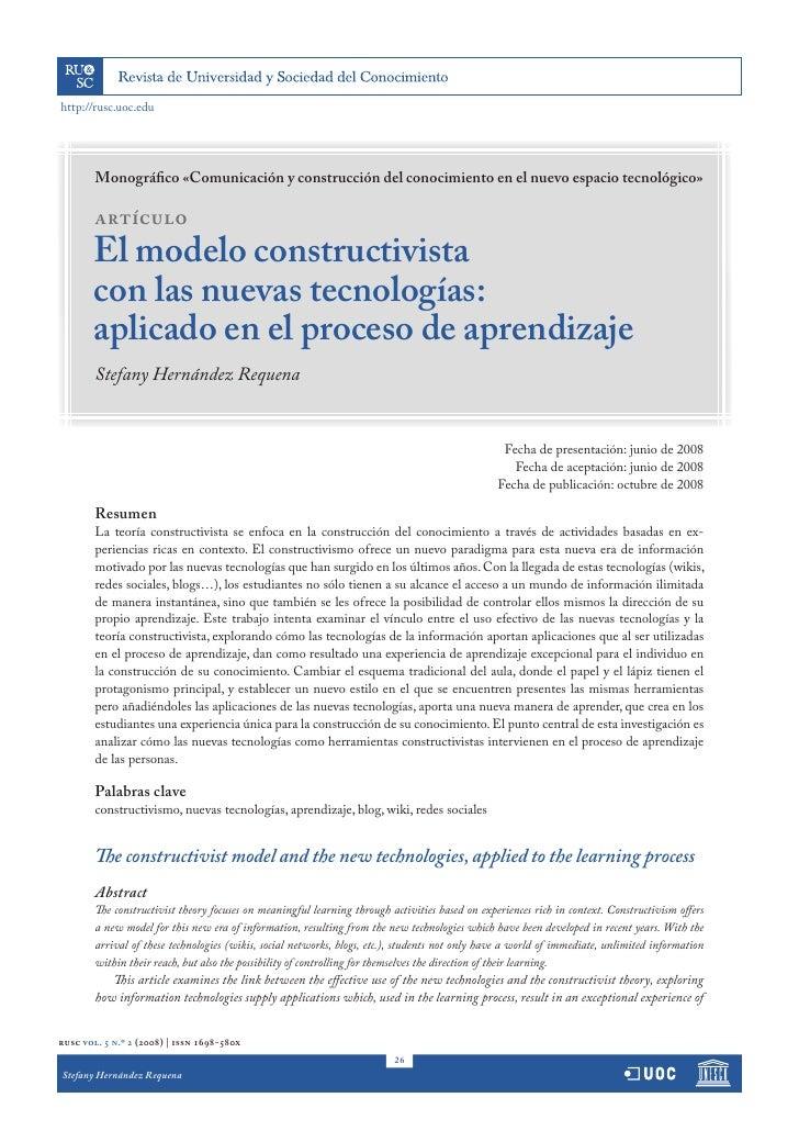 http://rusc.uoc.edu        Monográfico «Comunicación y construcción del conocimiento en el nuevo espacio tecnológico»     ...