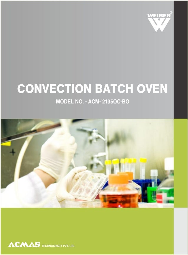 Convection batch oven
