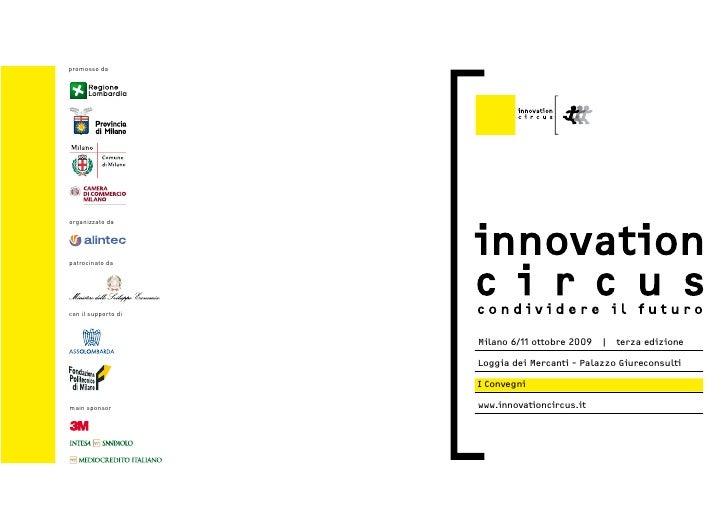 INNOVATION CIRCUS 2009- Programma Convegni