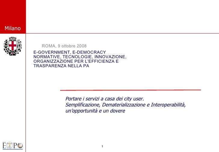 E-GOVERNMENT, E-DEMOCRACY NORMATIVE, TECNOLOGIE, INNOVAZIONE, ORGANIZZAZIONE PER L'EFFICIENZA E TRASPARENZA NELLA PA ROMA,...