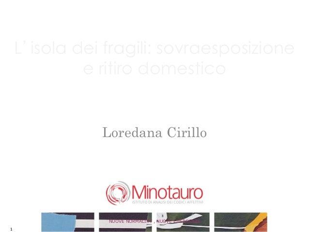 L isola dei fragili: sovraesposizione             e ritiro domestico               Loredana Cirillo                       ...