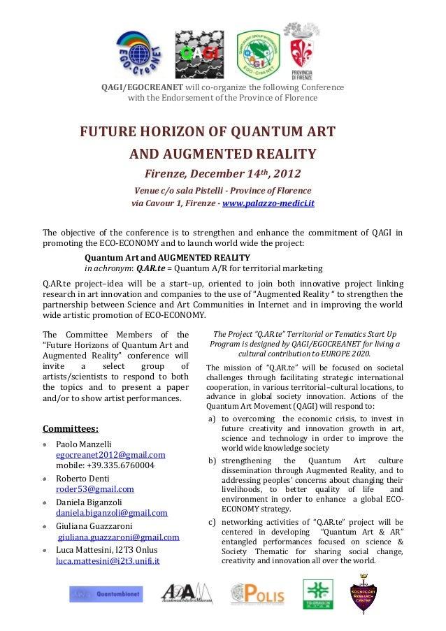FUTURE HORIZON OF QUANTUM ART AND AUGMENTED REALITY