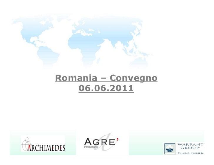 Romania – Convegno   06.06.2011