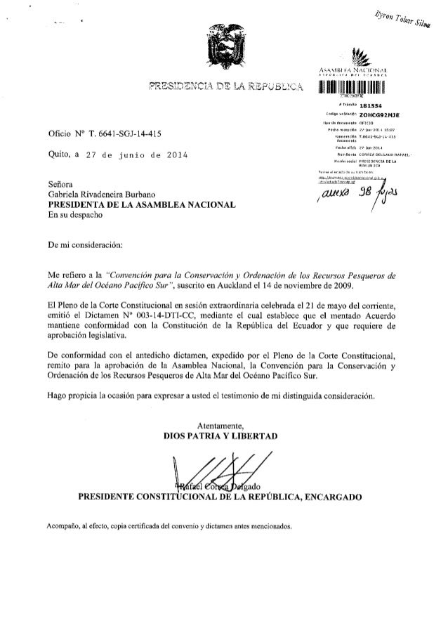"""lv,n ,. ,. _.. , afur Sih+- l,!e '1""""t.':Y lr'.1"""".),^ : ll','j': i Oficio N' T. 6641-SGJ-14-415 Quito, a 27 de junio de .EE..."""