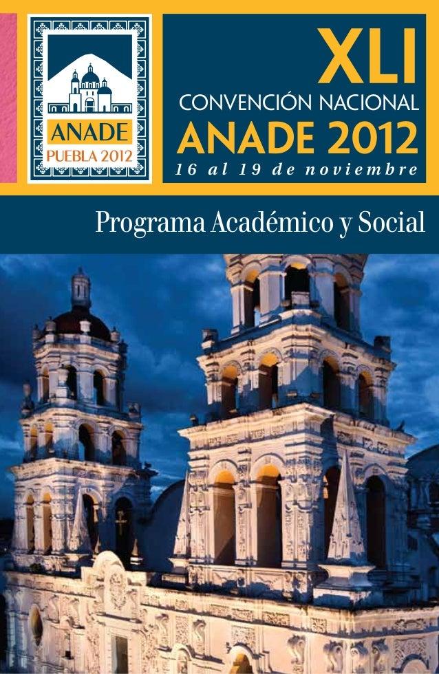 Invitacion Convencion ANADE 2012