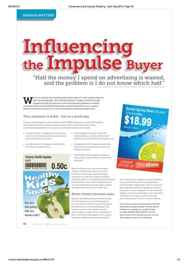 06/04/2013                                   Convenience and Impulse Retailing : April May 2013, Page 46c-store.realviewte...