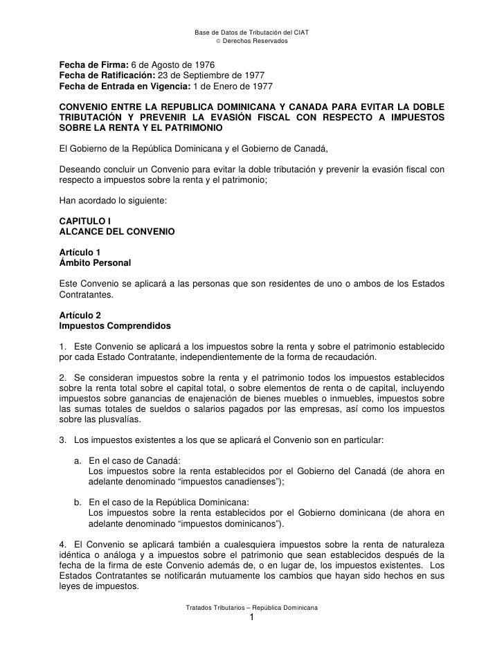 Base de Datos de Tributación del CIAT                                        Derechos ReservadosFecha de Firma: 6 de Agos...