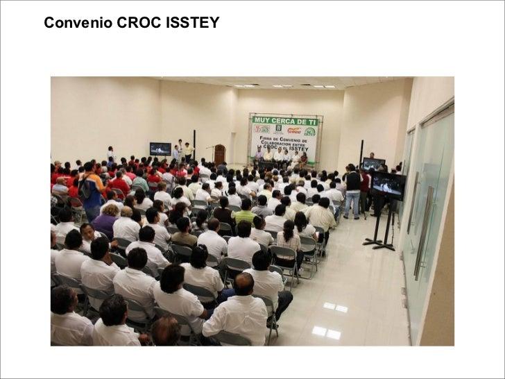 Firma de Convenio entre LA CROC y el ISSTEY