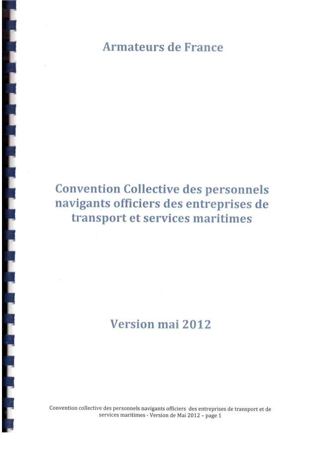 Nouvelle convention collective officiers de la marine marchande non étendue