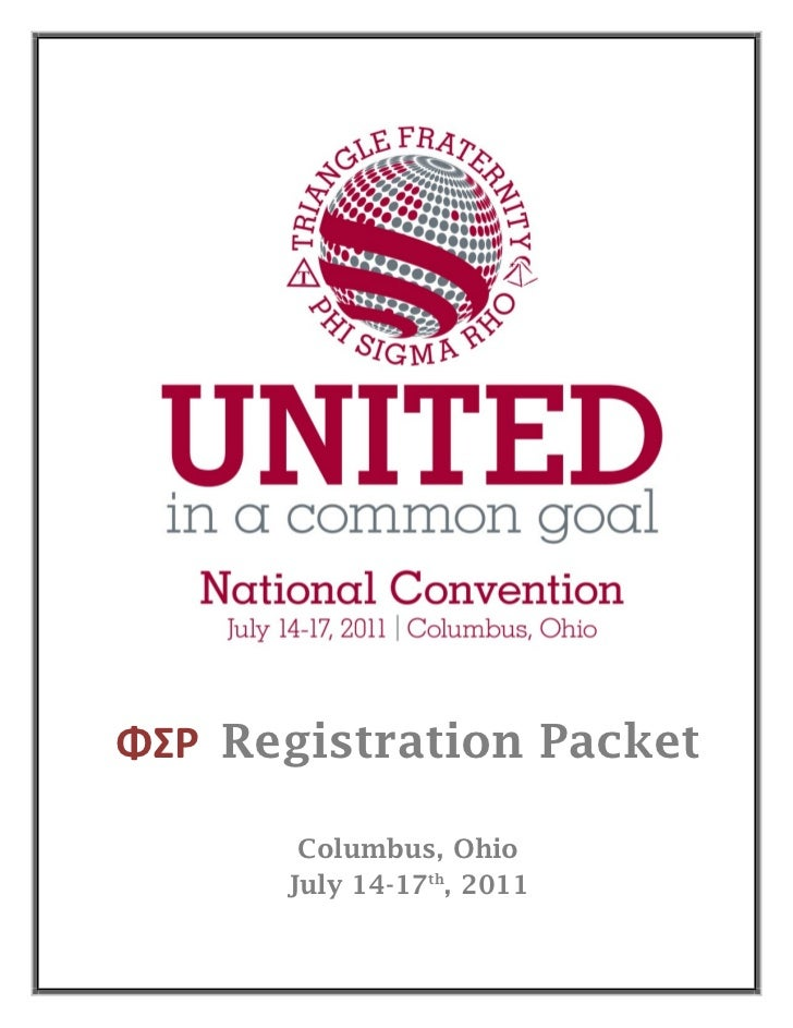 Convention 2011 registration_packet
