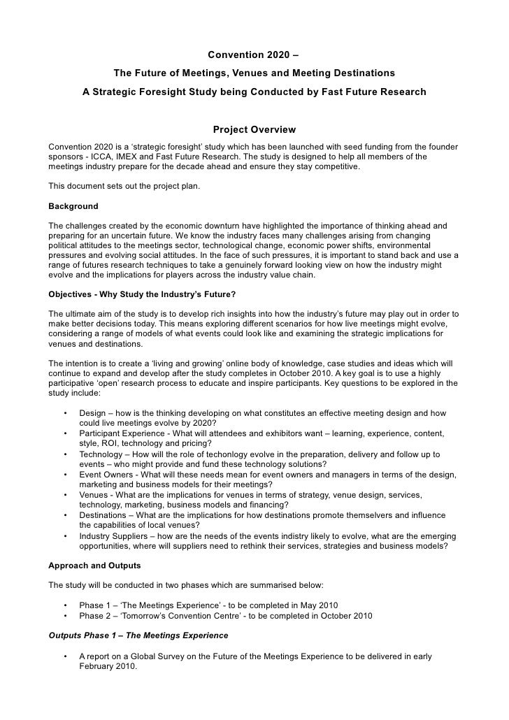 Convention 2020 - Project Overview (January 2010)