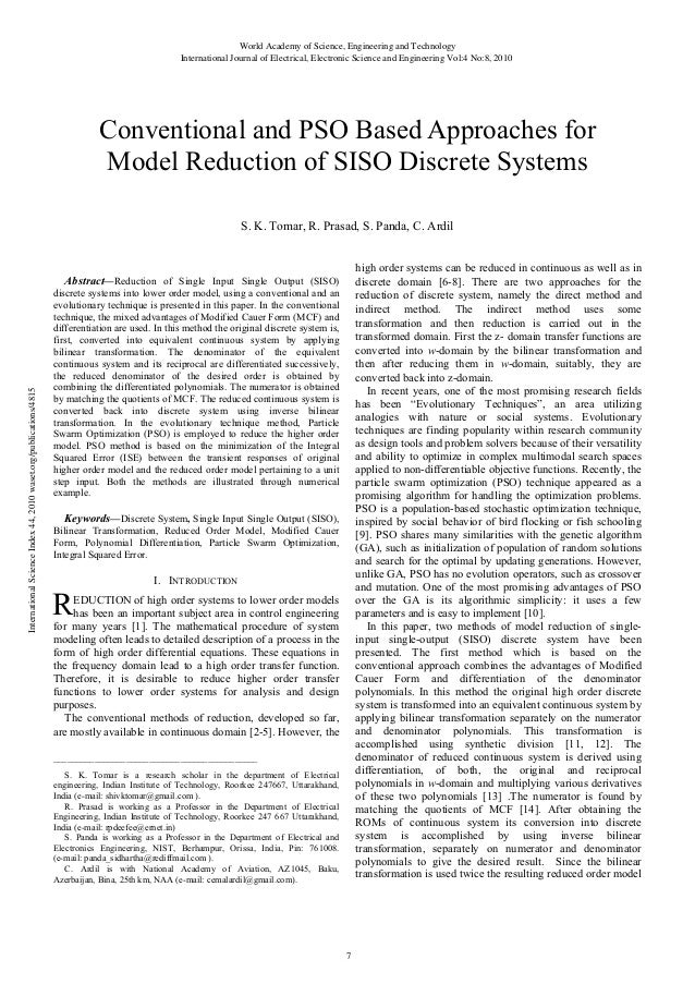 Conventional and-pso-based-approaches-for-model-reduction-of-siso-discrete-systems