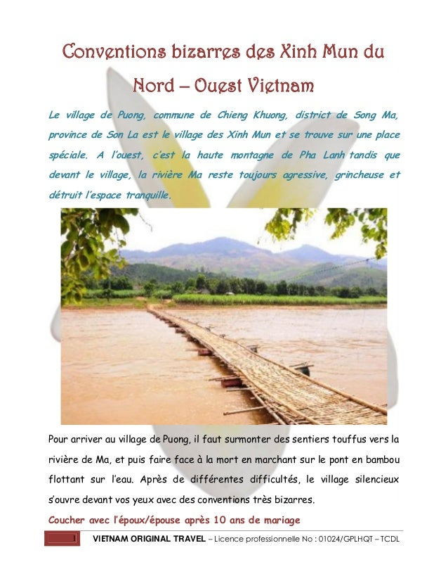Conventions bizarres des Xinh Mun du Nord – Ouest Vietnam Le village de Puong, commune de Chieng Khuong, district de Song ...