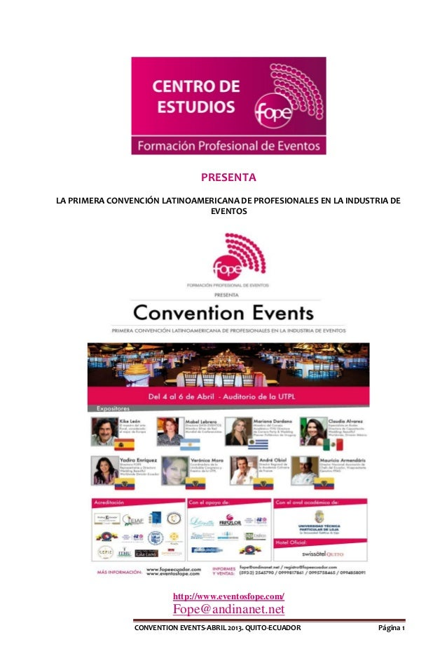Conventions events 2013