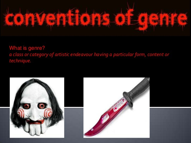 What is genre?a class or category of artistic endeavour having a particular form, content ortechnique.