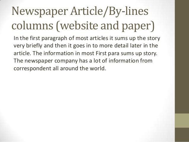 Paper articles