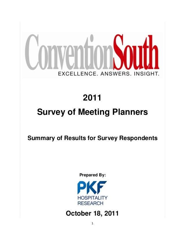 2011      Survey of Meeti...