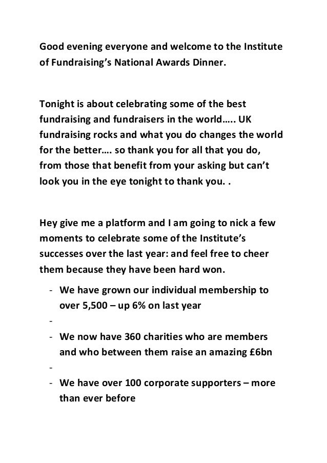 Good evening everyone and welcome to the Instituteof Fundraising's ...