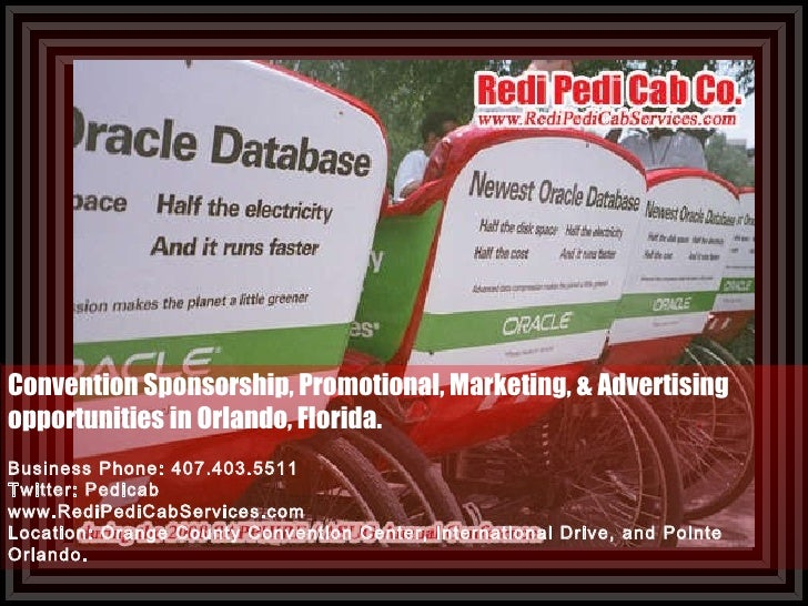 Convention Sponsorship, Promotional, Marketing, & Advertising opportunities in Orlando, Florida. Business Phone: 407.403.5...