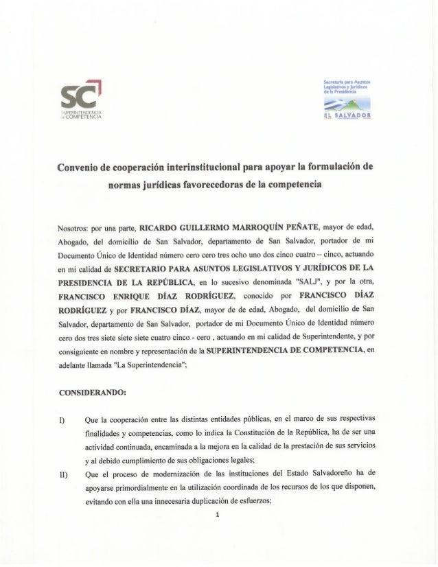 Convenio de Cooperación Interinstitucional para apoyar la formulación de normas jurídicas favorecedoras de la competencia