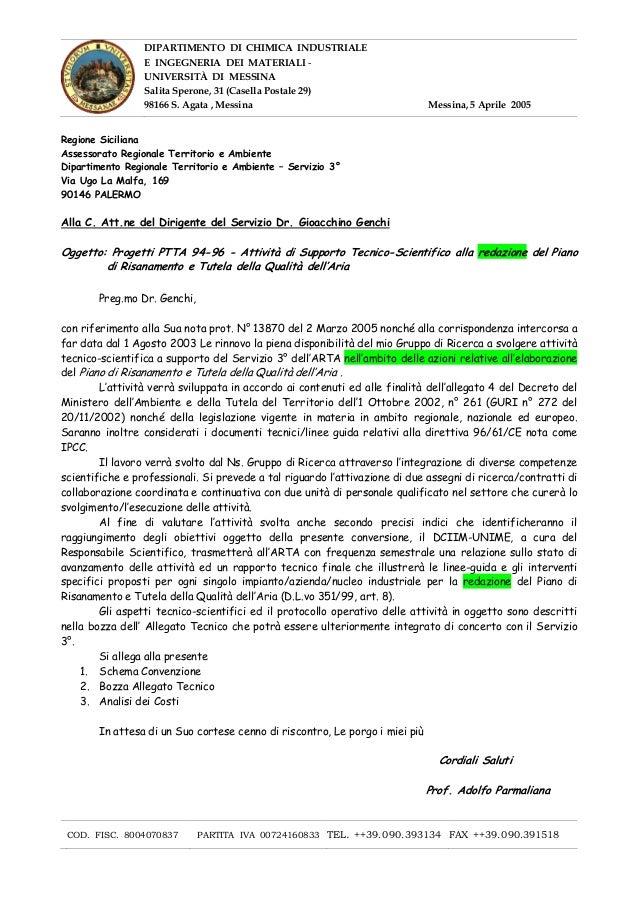 DIPARTIMENTO DI CHIMICA INDUSTRIALE E INGEGNERIA DEI MATERIALI UNIVERSITÀ DI MESSINA Salita Sperone, 31 (Casella Postale 2...