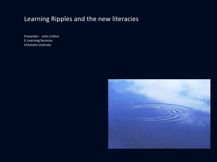 Learning Ripples