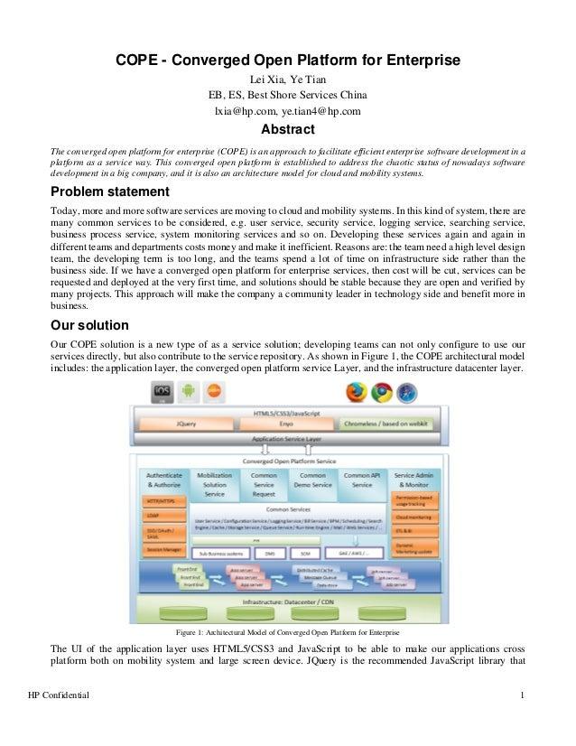 Converged open platform for enterprise