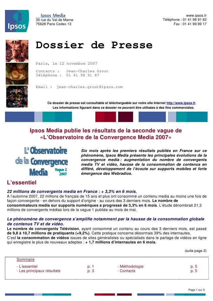 www.ipsos.fr                                                                                                    Téléphone ...