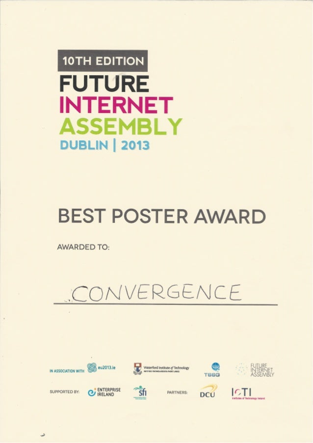 Convergence Best Poster Award