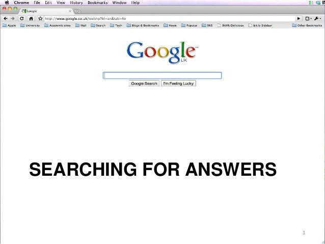SEARCHING FOR ANSWERS  1