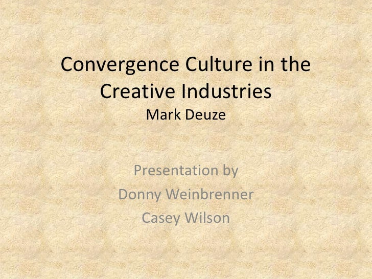 Convergence culture in the creative industries