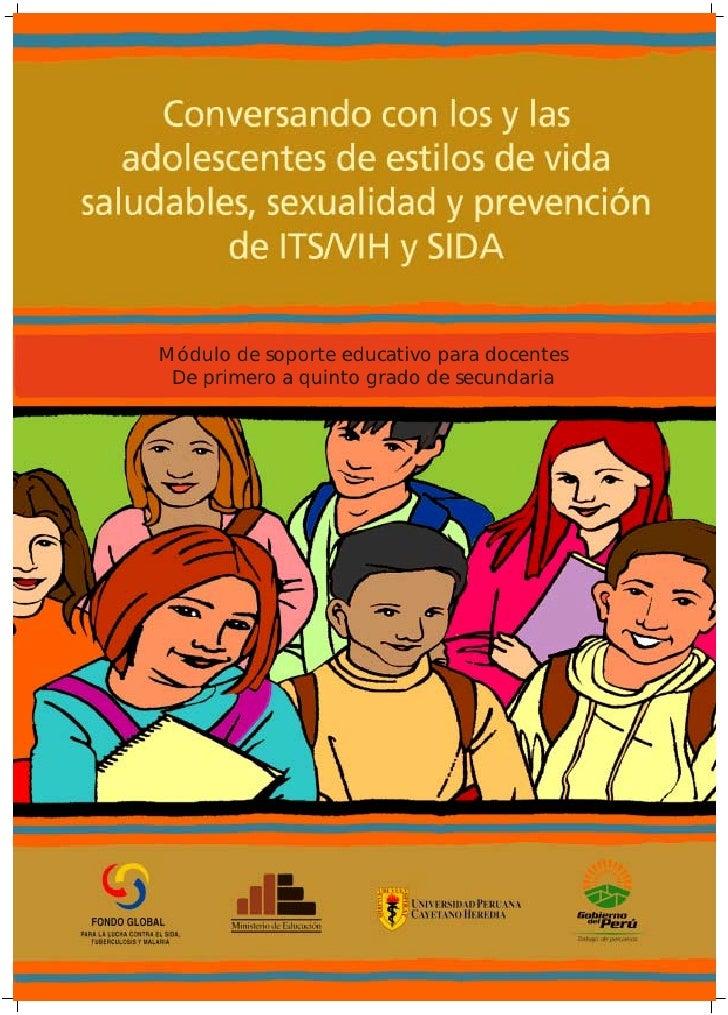 Módulo de soporte educativo para docentes De primero a quinto grado de secundaria                         Conversando con ...
