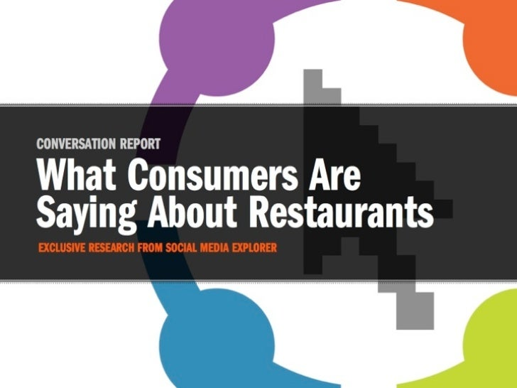 FSMU Presentation - What people are saying about restaurants